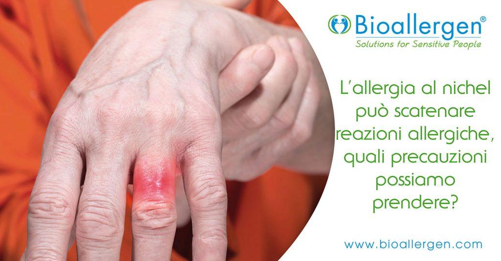 allergia da contatto nichel